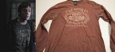 "Adam Milligan (Jake Abel) wears a Lucky Brand Calif Motor Championship Pro Team Long Sleeve T-Shirt in the color Brown in Supernatural Season 4 Episode 19 ""Jump The Shark."" #supernatural #adam"