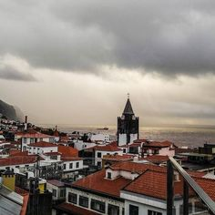 Morning glory in Funchal, Madeira. It's wintertime also in Madeira, but for us who are used to northern climate, Madeiran winter is almost like summer. A little bit more rain and wind though.  #funchalcity #funchal #madeira #morning #landscape #seascape #church #sky #cityview #travelblog #timokiviluoma