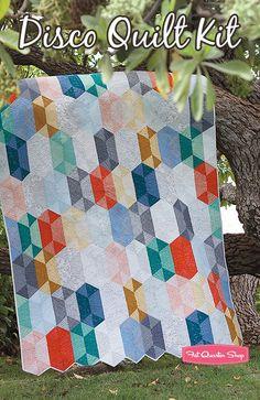Disco Quilt KitFeaturing Botanics by Carolyn Friedlander - Quilt Kits | Fat Quarter Shop