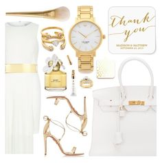 """Thank you"" by pastelneon ❤ liked on Polyvore featuring Hermès, ban.do, Kate Spade, River Island, Aquazzura, Guerlain, Kobelli and Marc Jacobs"