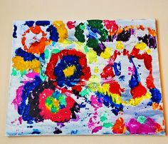 Crayon Art.  Now I know what to do with all those crayon stubs at the end of the school year!