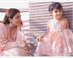 Ayeza khan with daughter hoorain taimoor Mother Daughter Dresses Matching, Matching Family Outfits, Daughter Love, Mother Daughters, Pakistani Dress Design, Pakistani Dresses, Salwar Suits Party Wear, Ayeza Khan, Girl Hijab