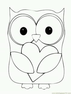 find this pin and more on crochet y costura valentine day owl hugging a heart coloring page