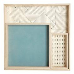 Plateaux en bois imprimés graphiques - Set de 3 Naturel  House Doctor