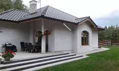 Projekt domu Kometa 1 103,63 m2 - koszt budowy 208 tys. zł - EXTRADOM Gazebo, House Plans, Outdoor Structures, How To Plan, Mansions, House Styles, Outdoor Decor, Scale, Home Decor