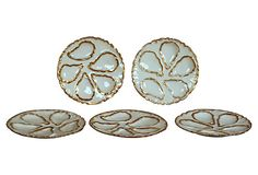 Limoges Oyster Plates, S/5 on OneKingsLane.com