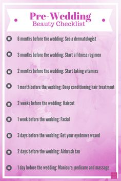 Pre-Wedding Beauty Checklist – Mix and Bash