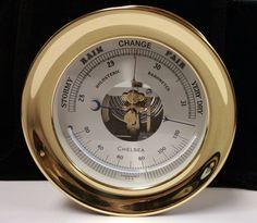 """Chelsea 4 1/2"""" Brass Ship Bell Barometer 20625 #barometer #brass #Chelsea #shipbell"""