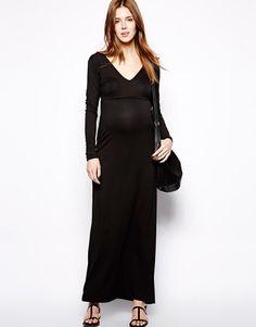 ASOS Maternity | ASOS Maternity Exclusive Maxi Dress with Sleeve at ASOS