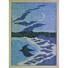 """A tiny tapestry! 4 inches by 6 inches title: """"Transition"""""""