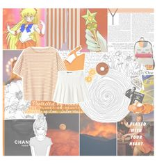 protected by venus, the planet of beauty, guardian of love, sailor venus! allow me to punish you with the power of love! by pearliemoon on Polyvore featuring Toast, Gianvito Rossi, Assouline Publishing and Chanel