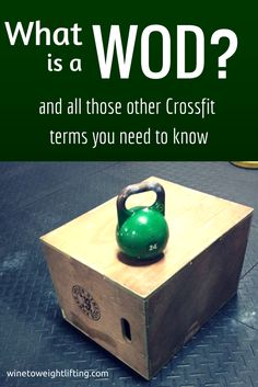 Crossfit for Dummies via @winetoweights What is a WOD? What does RX or AMRAP mean? What is EMOM? Different Crossfit terms can be confusing! Read to find out what all of it means! For more #Crossfit posts, check out http://www.winetoweightlifting.com/category/crossfit/