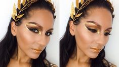 Are you looking for ideas for your Halloween make-up? Browse around this site for creepy Halloween makeup looks. Greek Makeup, Greek Goddess Makeup, Make Up Gold, Eye Make Up, Gladiator Halloween, Leyla Rose, Unique Halloween Makeup, Scary Halloween, Make Carnaval
