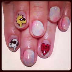 Snoopy/Woodstock Nails