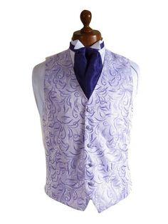 Wedding Waistcoats - Lilac & Purple