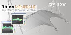Rhino Membrane  Rhinoceros Plugin - Tensile Structure Conceptual Design