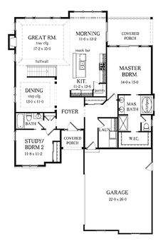 2 Bedroom House Plans 50 two 2 bedroom apartmenthouse plans Home Plans Homepw75220 1784 Square Feet 2 Bedroom 2 Bathroom Ranch Home With 2