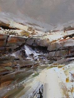 Misty Day by Tibor Nagy Oil ~ 16 x 12 Falling so deep. From nowhere. Just constantly falling. That mist which calls me to find out the light behind its bleak curtain. * * *