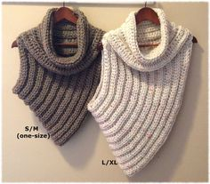 Cross-Body Cowl PATTERN - Instructions for sizes S/M (One Size Fits Most) and L/XL  Skill level: Easy (Level 2) (Knowledge of sc, hdc, increasing, and decreasing is required for this pattern.)  Written in American English, using US crochet terms. German translation by SansCel.  Materials Needed: 330-440 yards (302-402 meters) bulky (5) weight yarn Size M-11 (9.00 mm) crochet hook Large-eye blunt needle for weaving in ends  This fun and trendy cowl is seamless and reversible. You will only…