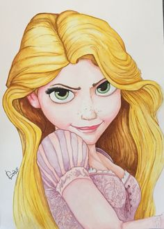 Rapunzel- watercolors in paper