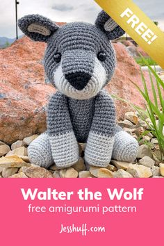 Walter the Wolf Free Amigurumi Pattern