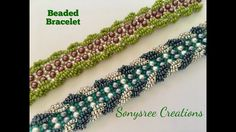 Seed Bead Tutorials ~ Spiral Stitch on a Right Angle weave Bracelet