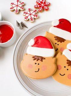 Elf Cookies | The Bearfoot Baker #bearfootbaker #decoratedcookies #edibleart #cookieart #royalicing #rolloutcookies #simplecookietutorial #Christmas #Christmascookies #cookietutorial #elfcookies #cookiesforsanta #tistheseasoncookies