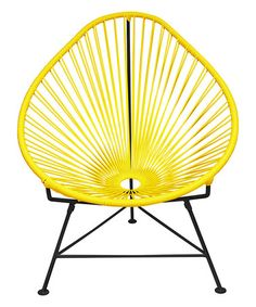 Look what I found on #zulily! Yellow & Black Acapulco Chair #zulilyfinds