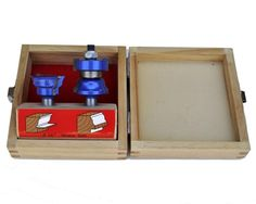 Window Sash Router Bit Set - This Blue Tornado 2-piece window sash router bit set is all you need to produce both windows and glazed doors. Designed for use in a router table, the hook and shear angles give a perfect finish to your work as the cutters do not chip away the wood. A window router bit set for the home woodworker or professional for making quality windows and glazed doors.