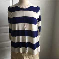 JCREW STRIPED SWEATER This has been a favorite of mine for a while. I've worn it a handful of times and every time I have loved it. I would keep it but I'm doing a major clean out and I need to let go of some things. You won't be sad to have this one!! J. Crew Sweaters Crew & Scoop Necks