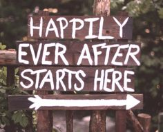 Breathtaking DIY Vintage Ideas For An Outdoor Wedding Happily Ever After Starts Here wedding signHappily Ever After Starts Here wedding sign Wedding Beauty, Wedding Tips, Diy Wedding, Rustic Wedding, Dream Wedding, Wedding Day, Wedding Signage, Wedding Church, Wedding Photos