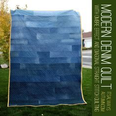 modern denim quilt - looks amazing, but pretty easy to put together