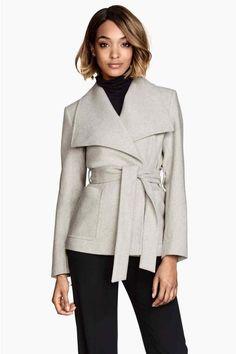 Abrigo en mezcla de lana | H&M 70€