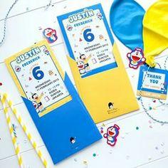 Invitation Doraemon, Anime Fnaf, Birthday Party Themes, Vectors, Birthdays, Party Ideas, Invitations, Children, Inspiration