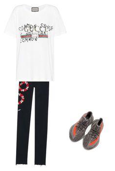 """Untitled #19"" by karolinahaj on Polyvore featuring Gucci, adidas, men's fashion and menswear"