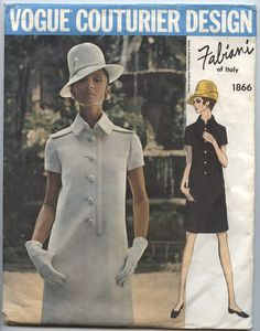 1960's dress pattern by Italian designer Fabiani