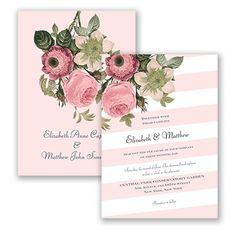 Vintage Botanical Wedding Invitation in Petal at David's Bridal.