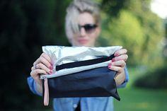 Asymmetrical clutch by Sarah | Project | Sewing / Bags & Purses | Leather | Kollabora #diy #kollabora #bag #sewing