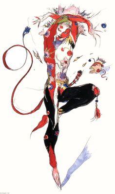 Final Fantasy VI - Nelapa Concept Art - Yoshitaka Amano