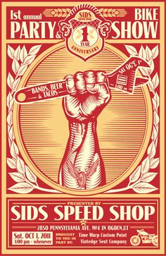 poster for sid's speed shop