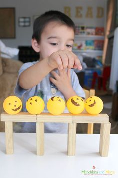 """building with blocks- an activity based on """"Five Little Pumpkins"""""""