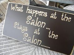 What happens at the salon stays at the salon
