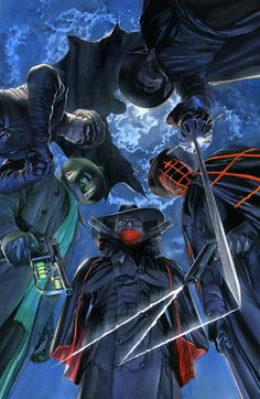 I heart pulp literature. And the art of Alex Ross.