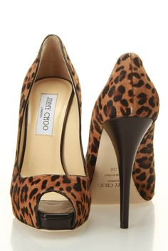 Jimmy Choo Comet Leopard Print Pony Pumps In Camel - Beyond the Rack