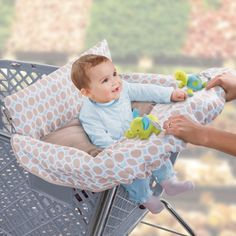 Amazon.com : Summer Infant 2-in-1 Cushy Cart Cover and Seat Positioner, Dots and Diamonds : Baby