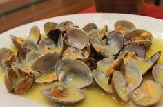 ALMEJAS A LA MARINERA THERMOMIX Tapas, Curry, Fish, Meat, Fruit, Healthy, Recetas Light, Kitchen, Gastronomia