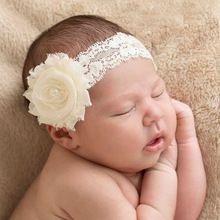 Nova gasto flor com pérola em renda elástica Headband para o bebé acessórios de cabelo infantil Headband da flor 1 PC(China (Mainland))