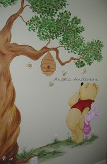 winnie the pooh murals for a nursery - Google Search