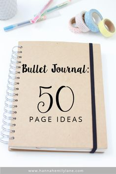 Creative Organization: Bullet Journal Inspiration - 50 Page Ideas. Because we can always use new ideas to make our Bujo more interesting and useful. Bullet Journal Inspo, Bullet Journal 50 Page Ideas, Bullet Journal 2018, Bullet Journal Spread, Bullet Journal Layout, Bullet Journal Spending Log, Beginner Bullet Journal, Bullet Journal How To Start A Simple, Bullet Journal Topics
