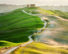 Farm on the hill by Marcin Sobas, via 500px